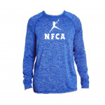 NFCA Holloway Blue Long Sleeve Crew Neck Shirt (Dry-Excel)